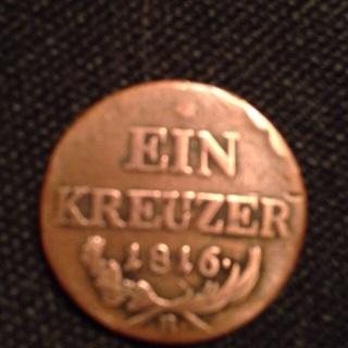 Austria 1 Kreuzer 1816-B – 200 years old