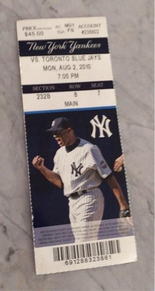 Used Yankees ticket