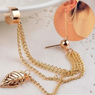 NEW Buy 1 Get, 1 Free! Chain Tassel Dangle Ear Cuff Wrap Earring