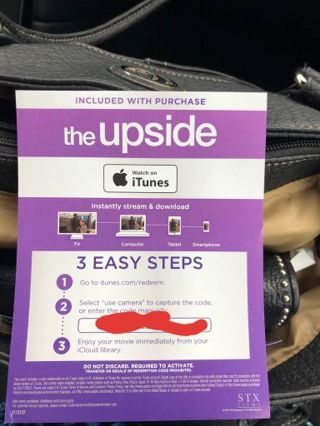 Digital HD copy of The Upside *iTunes only*