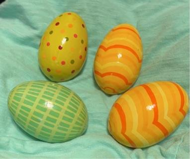 Four Wooden Eggs