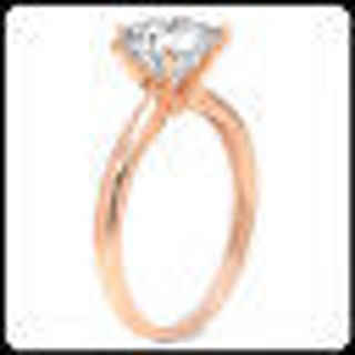 2.00Ct VVS1 Synthetic Lab Diamonds Engagement Wedding Woman Ring Real Rose GOLD