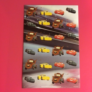 Disney Pixar Cars Round Stickers ~ 24 TOTAL ~ NEW!