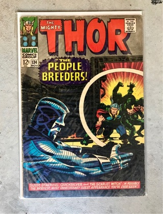 Thor #134 12 cent Cover Silver Age