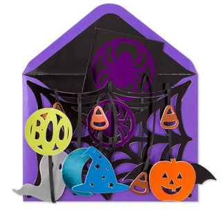 Papyrus Hangable Spider Web Mobile Halloween Card