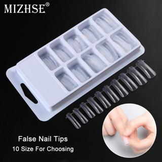 MIZHSE 100PCS/box Quick Building Mold Tips Dual Forms Finger Extension Nail Art Sculpting Acrylic