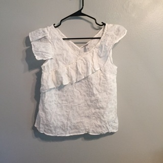A New Day white ruffled top