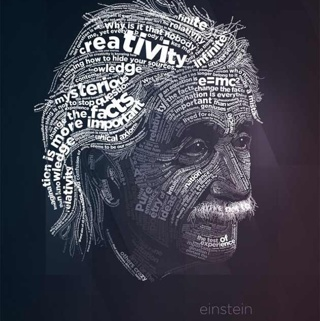 Albert Einstein Word Wallpaper