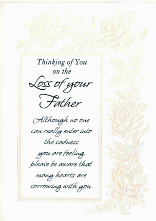 free sympathy card loss of father new card w envelope other auctions for free stuff