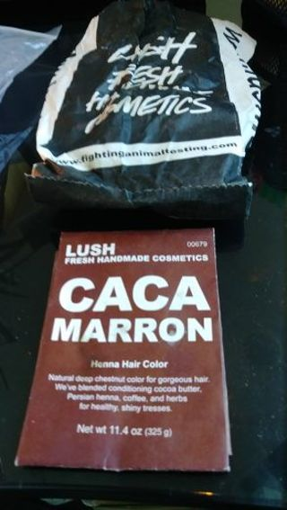 LUSH Henna Block for hair color- 1/4 left- Caca Marron (reddish)