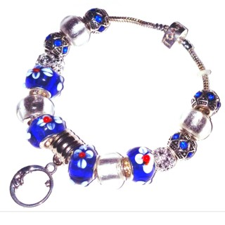 "NEW!) ""Calisto at Neptune Dusk"" Euro Bracelet! {Beautiful MOON Charm}"