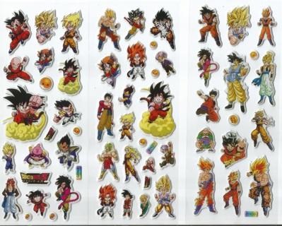 1 NEW Variety PACK DRAGON BALL Z Pop Up 3-D Stickers Super Cute Winner FREE SHIPPING Anime Manga DBZ