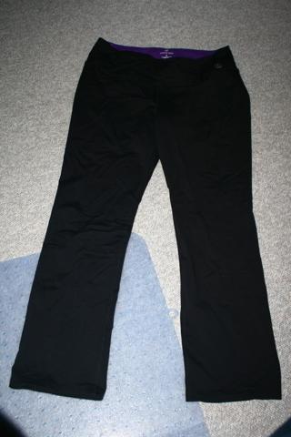 Land's End Black Active Pants XL-18