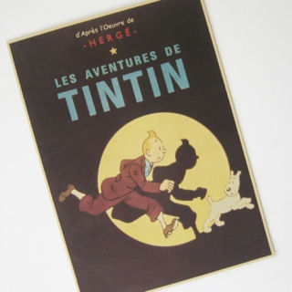Tintin Adventure Movie Kraft Paper Poster Classics Anime Memories Old Retro
