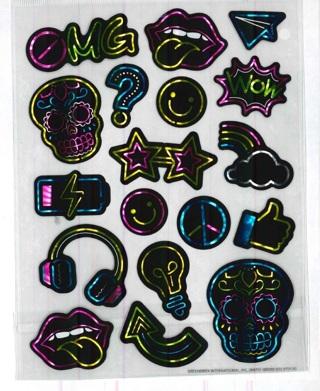 Shiney Retro Stickers # 4