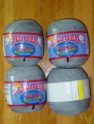 Free Four Balls Of Aunt Lydias Denim Quick Crochet Yarn With