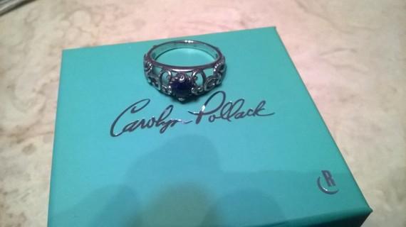 Carolyn Pollack Lapis Lazuli Sterling Silver Ring size 10