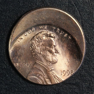Off Center Penny!  Full Date 1998!  US Mint Error Coin!