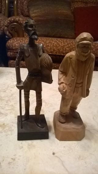 Wooden Carved Men Figures Vintage