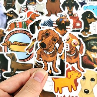50 Pcs Dachshund Dog Stickers