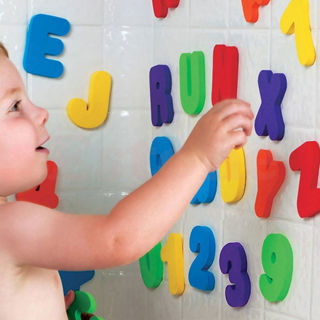 Foam Letters Numbers Bathroom Bath Tub 36pcs Children Kid Education Alphabet Toy