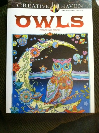 NEW!!!! ADULT COLORING BOOK-OWLS!!!