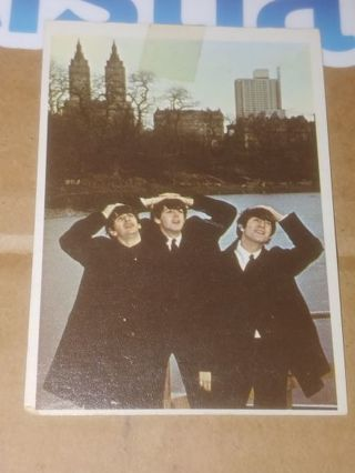 BEATLES⭐HANDS ON YOUR HEAD!⭐1965 BEATLES COLOR CARDS #64⭐AWESOME VINTAGE⭐FREE $HIPPING