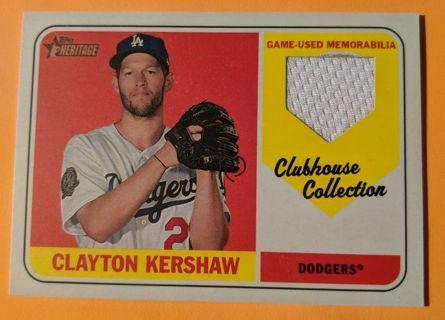 CLAYTON KERSHAW GAME WORN JERSEY CARD