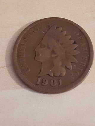 1901 Indian Head Penny In A Protective Holder