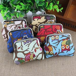 Coin Wallet Owl Cartoon Canvas Change Purse Pouch Clutch Cosmetic Bag Case New