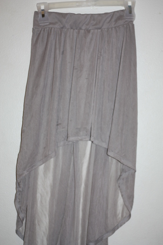 GrEY low/ high skirt sz small to med