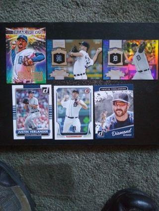MLB Justin Verlander (Detroit Tigers) Lot of 6