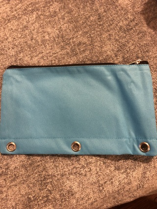 Brand New Canvas Light Blue Pencil, Makeup Or Coupon Holder. Will Fit Into a Binder.