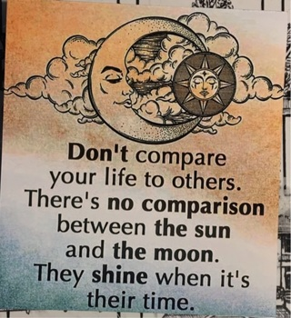 "DON'T COMPARE quote - 4 x 5"" MAGNET"