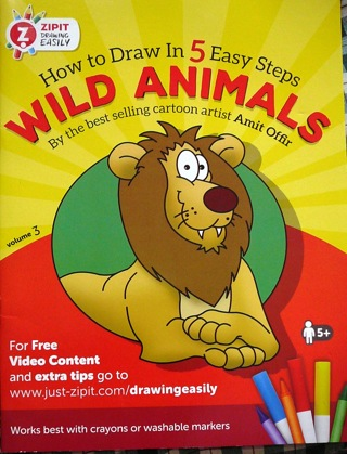 "How to draw in 5 Easy Steps..""Wild Animals"" Children's Book"
