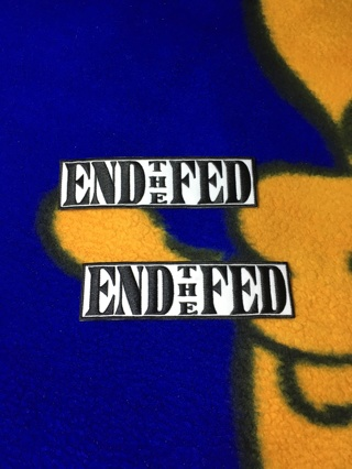 2-pack End The Fed IRON ON Patch Political Banking Cartel Clothing accessories Embroidery Applique