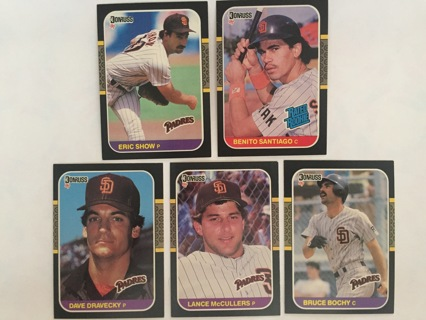 5 PADRES ERIC SNOW, BENITO SANTIAGO, DAVE DRAVECKY, LANCE McCULLERS & BRUCE BOCHY