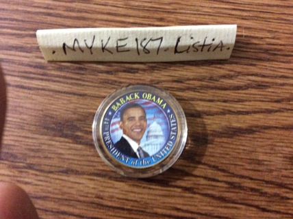 44TH PRESIDENT OF THE UNITED STATES -BARACK OBAMA HALF DOLLAR $$ COLLECTORS COIN! FREE SHIPPING USA!