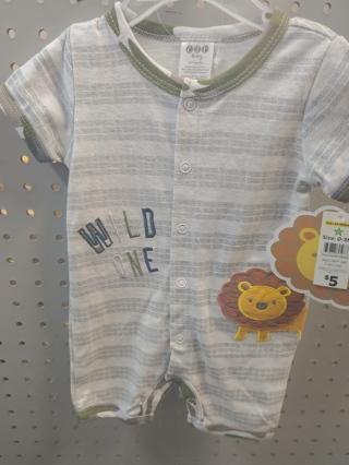 NWT! C J P Baby Boys Onesie Size: 0-3mths 60% Cotton 40% polyester