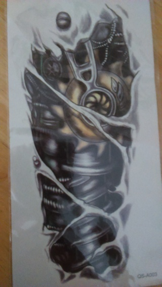 Cyborg Sleeve temporary tatoo sealed