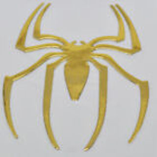 New 3D Golden Spider Car Stickers Car Body Individuation Decoration Sunproof