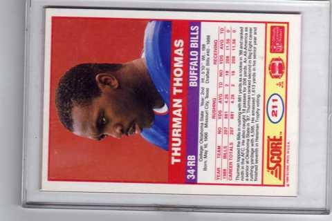 thurman thomas score rc 1989