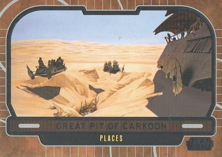 Star Wars Galactic Files Topps 2013 Collectible Card Great Pit Of Carkoon #667