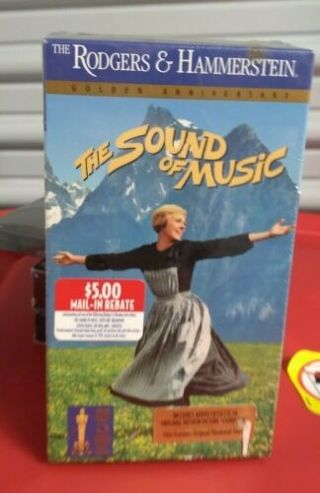New-Sealed Vintage SOUND OF MUSIC 2 VHS MOVIE SET Classic Film