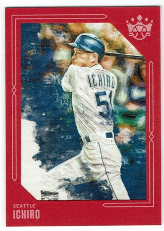 Ichiro Red Framed Diamond Kings 2020 Seattle Mariners
