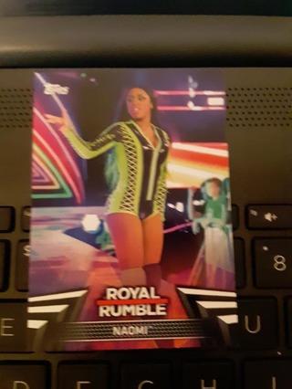 2018 ROYAL RUMBLE NAOMI WRESTLING CARD #RR-15