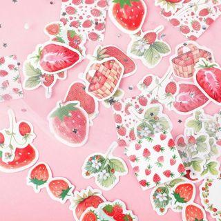 40Pcs Strawberry Stickers Sealing Diary Label Sticker Scrapbooking DIY Decor
