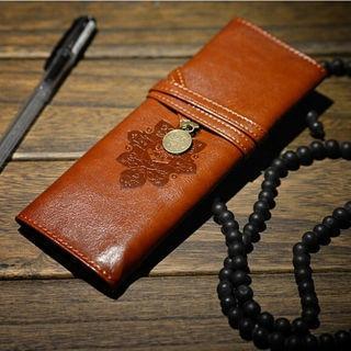 Vintage Retro Pencil Pen Case Cosmetic Pouch Pocket Brush Holder Makeup Bag