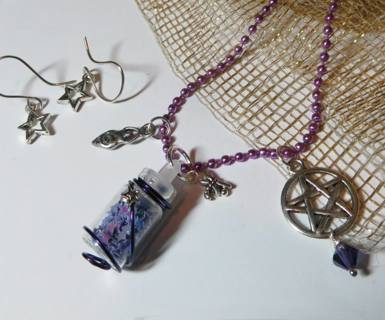 "⭐️-:¦:- ""The Eternal Mother Goddess"" *Fairy Dust* Handmade Necklace -:¦:-⭐️"