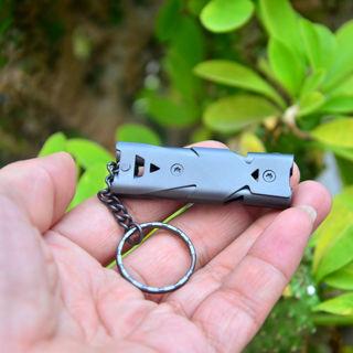 150 Decibel Lifesaving Emergency Hiking Survival SOS Stainless Steel Whistle New